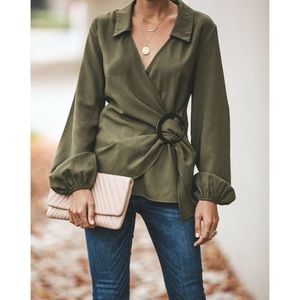 Tops - ▪️🆕Olive You Wrap Blouse